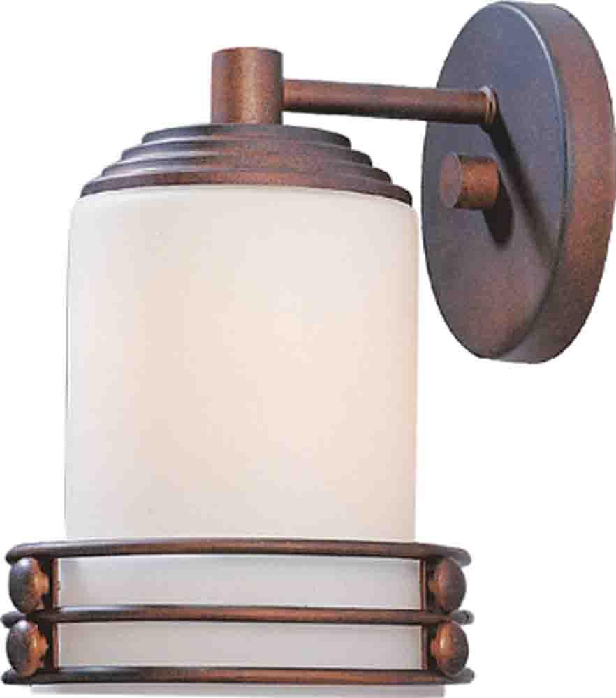 1 - Light Decorative Wall Mount  with Accent Rings Damp Location