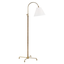 Hudson Valley MDSL503-AGB - 1 LIGHT FLOOR LAMP W/ RATTAN ACCENT