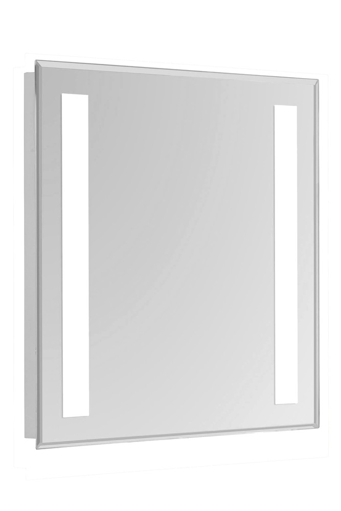 2 Sides LED Hardwired Mirror Rectangle W24H30 Dimmable 5000K