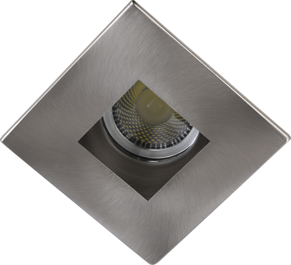 "3"" Brushed Nickel Square aperture with Brushed Nickel Square Trim ring"